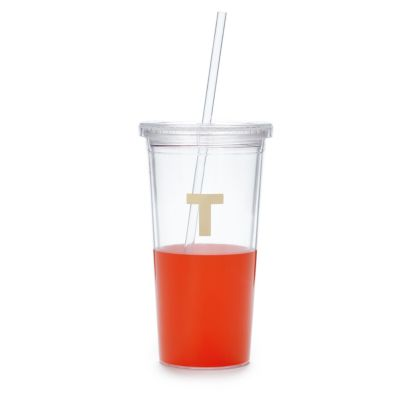 Kate Spade Dipped Initial Insulated Tumbler - T