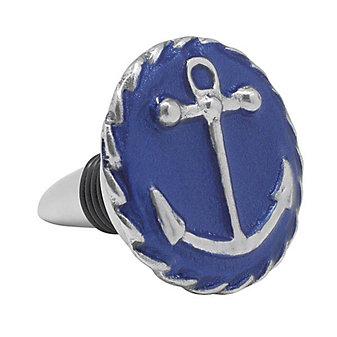 Mariposa Cobalt Anchor Emblem Bottle Stopper