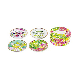 Lilly Pulitzer Cheers Wine Coaster Set