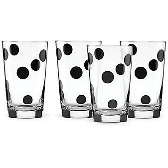 Kate Spade All In Good Taste S/4 Deco Dot All Purpose Beverage Set