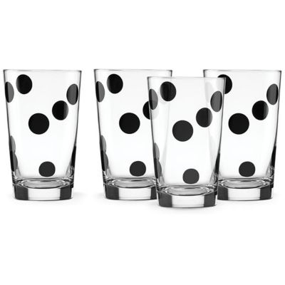Kate Spade All In Good Taste S/4 Deco Dot All Purpose Beverage Set