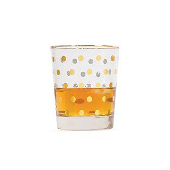8 Oak Lane Glass Highball - Gold Dot