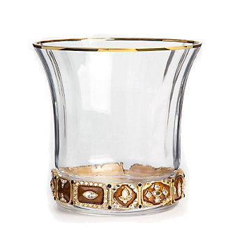 Jay Strongwater Ezra Jeweled Amber Ice Bucket
