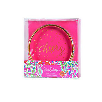 Lilly Pulitzer I'm So Hooked Wine Coaster