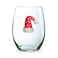 The_Queens_Jewels_Christmas_Hat_Stemless_Jeweled_Wine_Glass