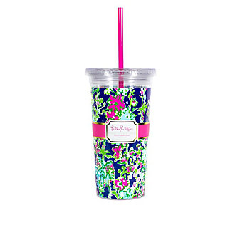 LILLY PULITZER TUMBLER WITH STRAW - SOUTHERN CHARM