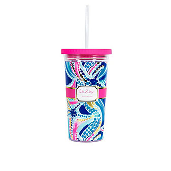 LILLY PULITZER TUMBER WITH STRAW - OCEAN JEWELS
