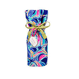 Lilly Pulitzer Wine Tote - Ocean Jewels