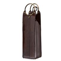 ricci_leather_hoop_wine_holder_brown
