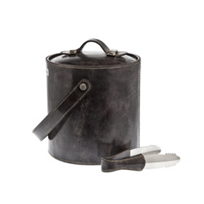 ricci_leather_ice_bucket_with_tongs_grey