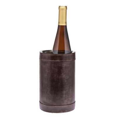 ricci leather wine chiller brown