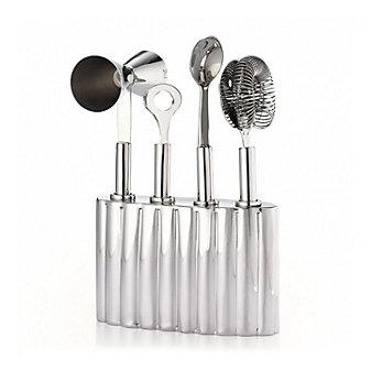 "mary jurek silhouette bar tool set with holder 6"""