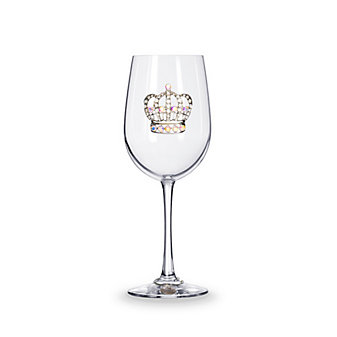 the queen's jewels large crown stemmed jeweled wine glass