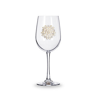the queen's jewels pearl bouquet stemmed jeweled wine glass