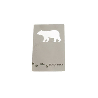 zootility black bear wallet card bottle opener