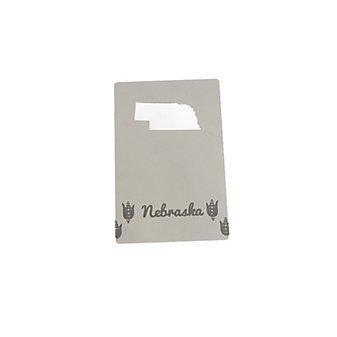 zootility nebraska wallet card bottle opener