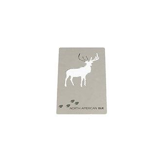 zootility north american elk wallet card bottle opener