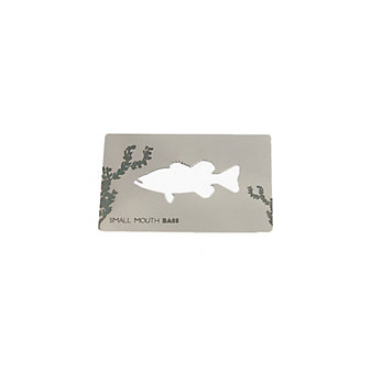 zootility small mouth bass wallet card bottle opener