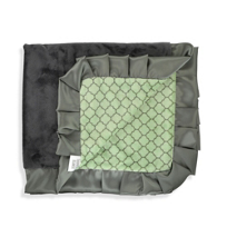 Swankie_Blankie_Sage_&_Charcoal_Lattice_Receiving_Blanket