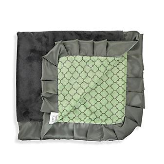 Swankie Blankie Sage & Charcoal Lattice Receiving Blanket