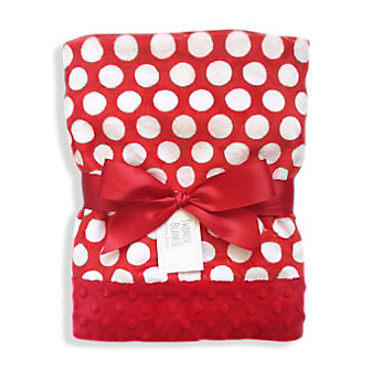 Swankie Blankie Red & White Mod Dot Receiving Blanket