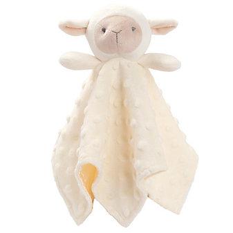 Elegant Baby Cream Lambie Minky Blankie Buddy