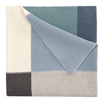 Elegant Baby Boy's Patchwork Blanket