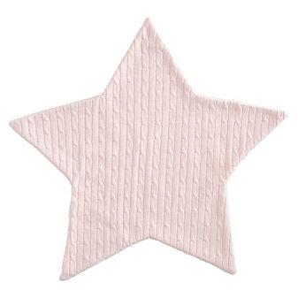 Elegant Baby Pink Star Cable Blanket