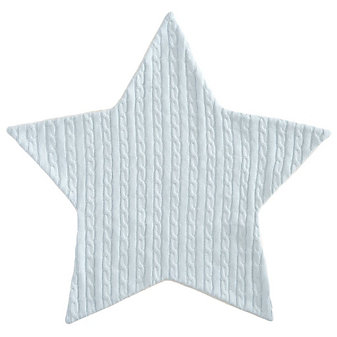 Elegant Baby Blue Star Cable Blanket