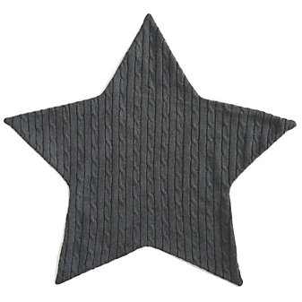 Elegant Baby Charcoal Star Cable Blanket