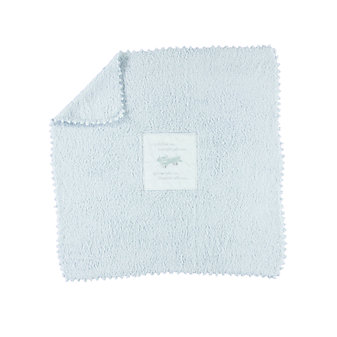 BAREFOOT DREAMS COZYCHIC RECEIVING BLANKET BLUE