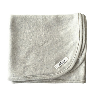 "oh baby! ""baby"" layette blanket - charcoal"