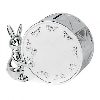 Royal Doulton Bunnykins Silver Money Box
