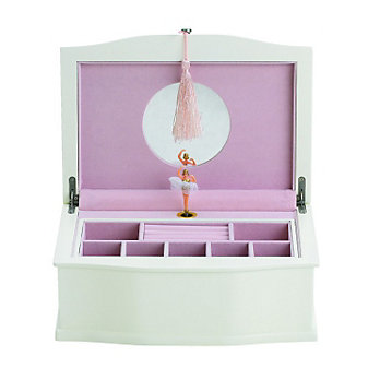 Reed and Barton Ballerina Musical Chest - White/Pink