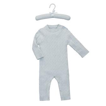 ELEGANT BABY CABLE JUMPSUIT 3-6 MONTH - BLUE