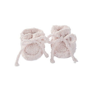 BAREFOOT DREAMS INFANT BOOTIES PINK 0-6 MONTHS