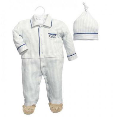 cr gibson baby dumpling hush little baby boy sleep and play set 0-3 months