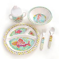 MacKenzie-Childs_Happy_Fish_Toddler's_Dinnerware_Set