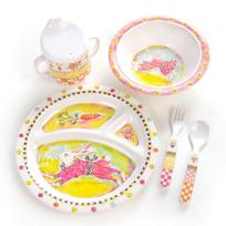 MacKenzie-Childs_Bunny_Toddler's_Dinnerware_Set