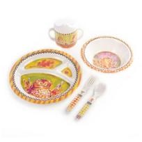 MacKenzie-Childs_Toddler's_Owl_Dinnerware_Set_