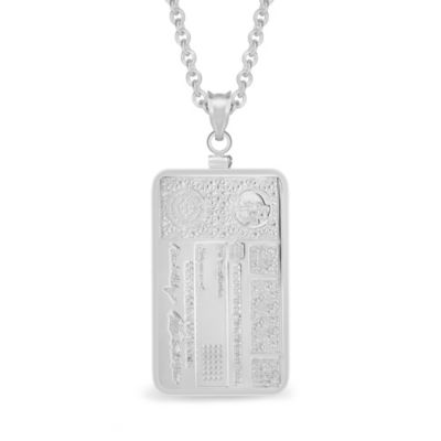 Berkshire_Hathaway_Sterling_Silver_Stock_Certificate_Pendant,_20""