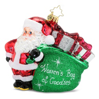 "Christopher_Radko_""Warren's_Bag_of_Goodies""_Ornament"