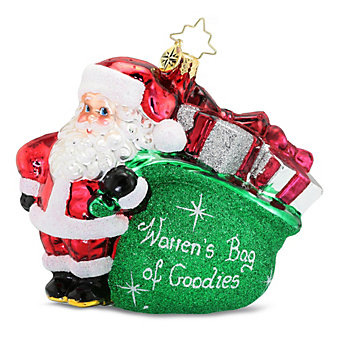 "Christopher Radko ""Warren's Bag of Goodies"" Ornament"