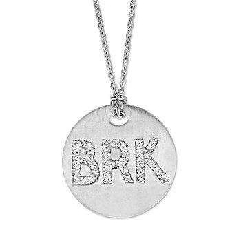 """18K White Gold Roberto Coin """"BRK"""" Medallion Pendant"""