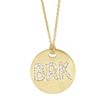 "18K_Yellow_Gold_Roberto_Coin_""BRK""_Medallion_Pendant"
