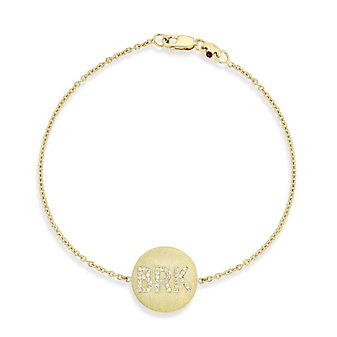 Roberto Coin 18K Yellow Gold BRK Medallion Bracelet