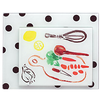 Kate Spade All In Good Taste Pretty Pantry Deco 2-Piece Food Prep Board