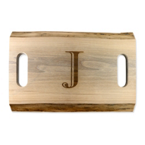 "Maple_Leaf_at_Home_Double_Handled_Cutting_Board,_""J"""