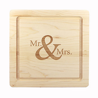 "Maple Leaf At Home 12"" Square Mr. & Mrs. Board"