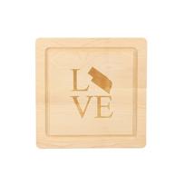 """Maple_Leaf_At_Home_12""""_Nebraska_Love_Square_Board"""